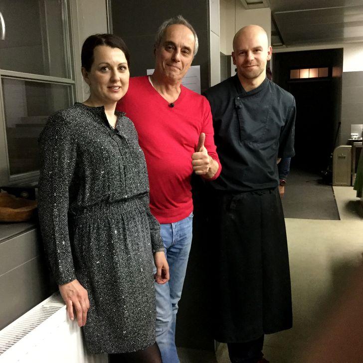 Restaurant Elements: (v.l.) Martina Starovicová, Christian Rach, Stephan Mießner (Inhaberpaar und Koch). Foto: RTL / ume