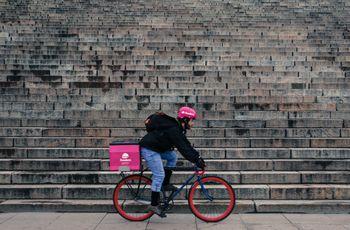 Das Premium-Essen kommt mit dem Fahrrad. Foto: foodora