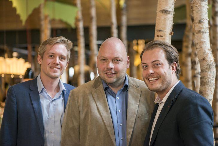 """Geschäftsführung von """"Hans im Glück"""" (v.l.n.r.): Jens Hallbauer, Frank Unruh und Johannes Bühler. Foto: """"Hans im Glück"""""""