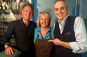 Restaurant Pastis: (v.l.) Sylvain Awolin-Le Penn, Susan Awolin und Christian Rach. Foto: RTL / ume