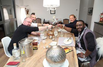 Von links: Christian Lohse, Ralf Jakumeit, Björn Freitag und Nelson Müller. Foto: VOX / Frank W. Hempel