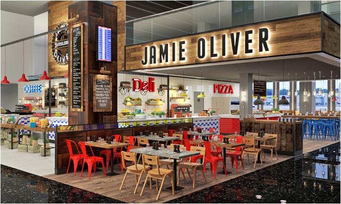 """So soll das """"Jamie's Deli by Jamie Oliver"""" am Düsseldorfer Flughafen aussehen. Foto: SSP"""